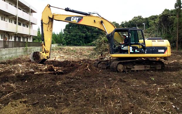 伐採抜根請負工事
